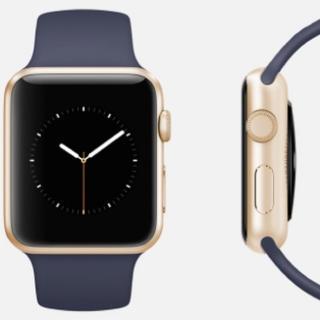 アップルウォッチ(Apple Watch)のアップル純正 スポーツバンド ミッドナイトブルー 42/44mm(ラバーベルト)