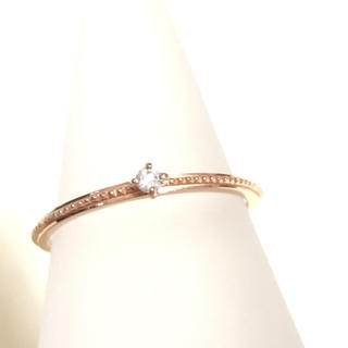 アガット(agete)のアガット ピンクゴールド ダイヤモンド リング(リング(指輪))