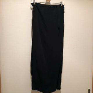 アンドゥムルメステール(Ann Demeulemeester)のANN DEMEULEMEESTERスリット入りロングスカート ブラック(ロングスカート)