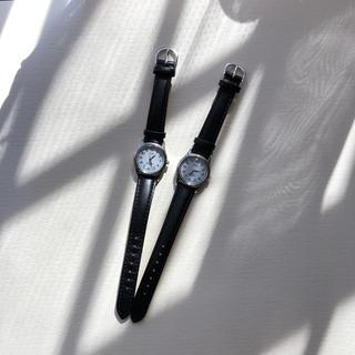 アルバ(ALBA)のALBA 時計 黒皮ベルトシンプル(腕時計)