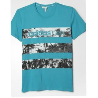 アディダス(adidas)のadidas アディダス  O寸 SC トロピカルフォトボーダーTシャツ メンズ(Tシャツ/カットソー(半袖/袖なし))