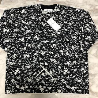 ルシェルブルー(LE CIEL BLEU)の新品タグ付き ルシェルブルー 花柄セーター 36 ブラック(ニット/セーター)