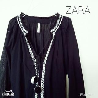 ザラ(ZARA)の新品 ZARA 刺繍チュニック(チュニック)