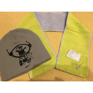 ナイキ(NIKE)のナイキ ベビーニット帽  タオルマフラー 処分値下げ(帽子)