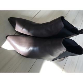 ジーユー(GU)のジーユー サイドゴアブーツ ブラウン XL 【美品】(ブーツ)