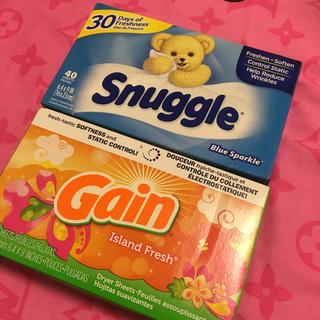 スナッグル(Snuggle)の柔軟シート 2箱(洗剤/柔軟剤)