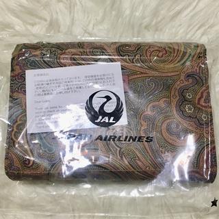 エトロ(ETRO)のJAL日本航空 ファーストクラス アメニティETROエトロ旅行ポーチ 新品未使用(ノベルティグッズ)
