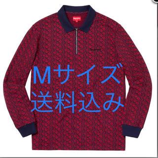 シュプリーム(Supreme)の【定価販売】送料込みFloral Jacquard Zip L/S Polo(ポロシャツ)