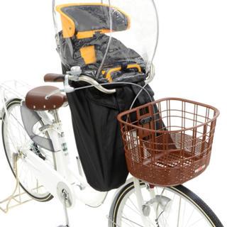 オージーケー(OGK)の自転車 後付けタイプ前用子供乗せチャイルドシート レインカバーOGK ブラック(自動車用チャイルドシートカバー)