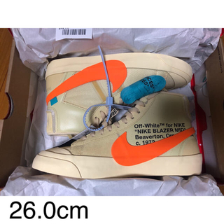 ナイキ(NIKE)の26.0 NIKE BLAZER MID OFFWHITE ORANGE(スニーカー)