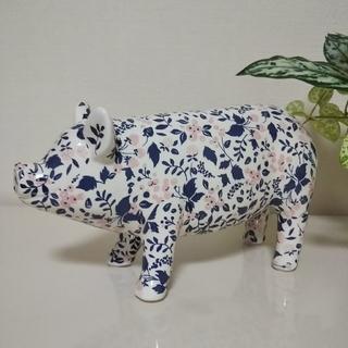 アフタヌーンティー(AfternoonTea)のAfternoon Tea 可愛い花柄 ブタの貯金箱 陶器(置物)