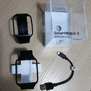 ソニー(SONY)のSmartWatch3 SWR50用 ブラック 新品未使用品+使用品+α(ラバーベルト)