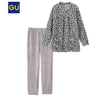 GU - gu レオパードルームウェア パジャマ 部屋着 ヒョウ柄