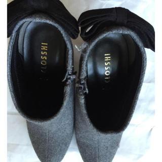 シマムラ(しまむら)の中古美品 しまむら ショートブーツ Mサイズ グレー(ブーティ)