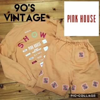 ピンクハウス(PINK HOUSE)のビンテージ ピンクハウス レディースL セットアップ トレーナー ハーフパンツ(セット/コーデ)