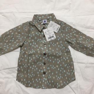 ギンザノサエグサ(SAYEGUSA)の新品 サエグサ  シャツ 12-18M  80(シャツ/カットソー)