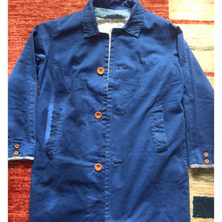 ヴィスヴィム(VISVIM)のvisvim mies coat blue(ステンカラーコート)