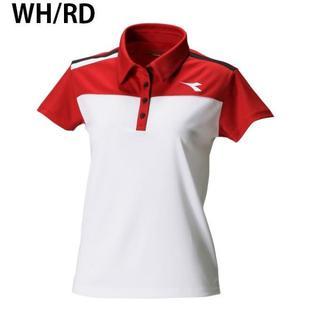 ディアドラ(DIADORA)のディアドラ ゲームシャツ 白×赤M 定価5184円 DTL7344(ウェア)