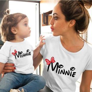 ディズニー(Disney)のミニー  ペアルック Tシャツ  二枚セット(Tシャツ(半袖/袖なし))