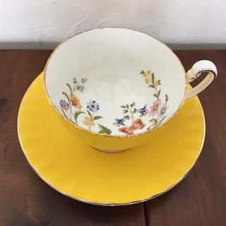 エインズレイ(Aynsley China)のエインズレイ カップ&ソーサー 黄色 金彩 エンズレイ(グラス/カップ)