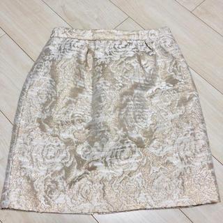 チェスティ(Chesty)の大幅値下げ!chesty チェスティ  華やか♡刺繍スカート タイトスカート(ひざ丈スカート)