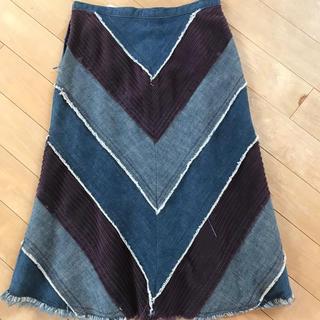 シマロン(CIMARRON)のデニム切り替えスカート シマロン SALE(ひざ丈スカート)