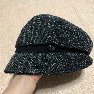 シマムラ(しまむら)の黒の冬用キャスケット(キャスケット)