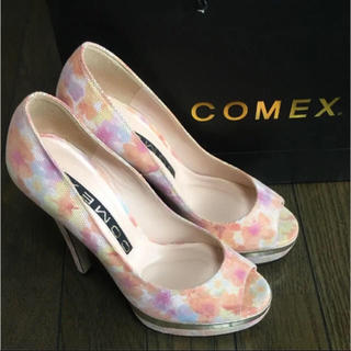 COMEX - 春先取り COMEX フラワーヒール 美品