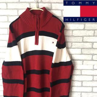 トミーヒルフィガー(TOMMY HILFIGER)のトミーヒルフィガー TOMMY ニット セーター ハーフジップ レディース 人気(ニット/セーター)