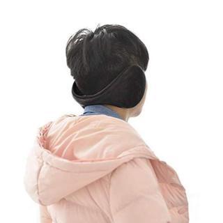 【冬物処分】イヤーウォーマー イヤーマフ 耳あて フリーサイズ 防寒◆ネイビー(イヤマフラー)