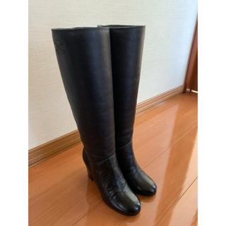 シャネル(CHANEL)の美品 Chanel シャネル ブーツ ロングブーツ 37 ブラック(ブーツ)