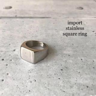 ꫛꫀꪝ✧・:*◆インポート◆ステンレス スクエア リング(リング(指輪))
