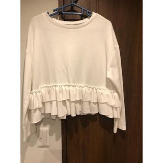 ザラ(ZARA)のフリル ロンT(Tシャツ(長袖/七分))