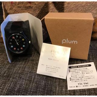 カシオ(CASIO)の今だけ価格!新品未使用!plum プラム 黒 ブラック 腕時計  チックタック(腕時計)