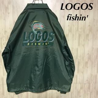 ロゴス(LOGOS)の美品 LOGOS FISHIN' ナイロン コーチジャケット(ナイロンジャケット)