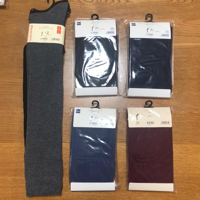 GU(ジーユー)の6点セットカラータイツ&あったかオーバーニーソックス レディースのレッグウェア(タイツ/ストッキング)の商品写真