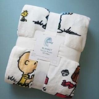 柔らか肌触りスヌーピー毛布ブランケット(毛布)