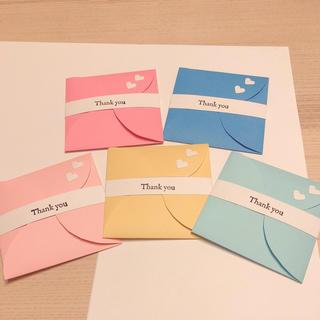 サンキューカード  5色5枚(カード/レター/ラッピング)