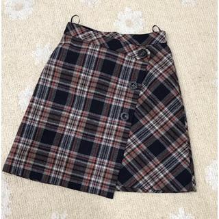 リランドチュール(Rirandture)のRirandture オータムウール チェックAラインスカート 美品(その他)