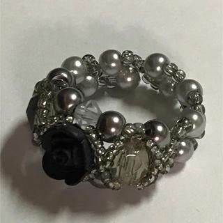 黒い薔薇のリング(リング(指輪))