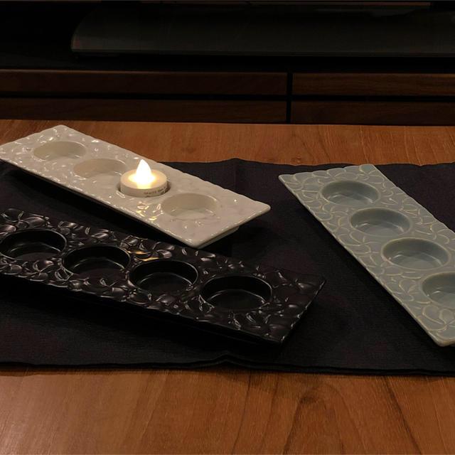 Jenggala(ジェンガラ)のジェンガラ プルメリア キャンドルホルダー マットグリーン ハンドメイドのインテリア/家具(アロマ/キャンドル)の商品写真