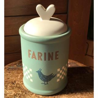 フランフラン(Francfranc)の美品 ☆ 陶器 バード キャニスター(容器)