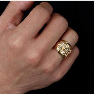ゴールドオーバルクロスリング(リング(指輪))