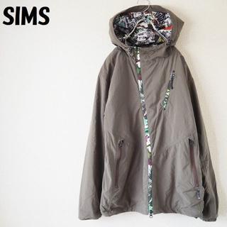 シムス(SIMS)の【人気】シムス ナイロンジャケット カーキ 内側クレージーデザイン サイズL(ナイロンジャケット)