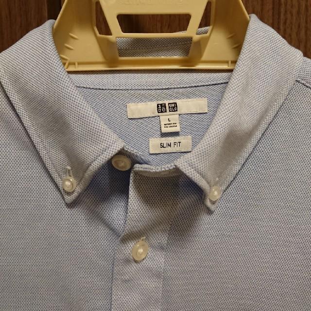UNIQLO(ユニクロ)のユニクロ ストレッチジャージー素材 ドレスシャツスリムフィット 美品 メンズのトップス(シャツ)の商品写真