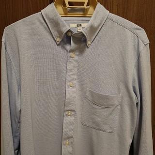 ユニクロ(UNIQLO)のユニクロ ストレッチジャージー素材 ドレスシャツスリムフィット 美品(シャツ)