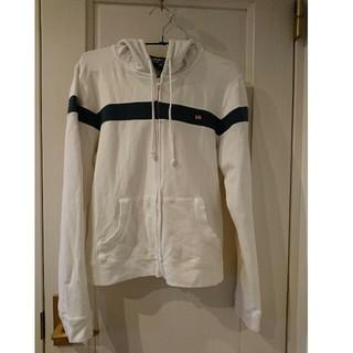 ラルフローレン(Ralph Lauren)のPOLO JEANS CO パーカー ホワイト×ネイビー Lサイズ(パーカー)