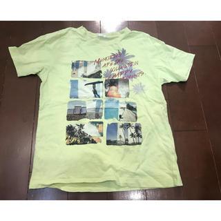 ジーユー(GU)の中古☆美品☆GU kidsイエローグリーン半袖Tシャツ140☆(Tシャツ/カットソー)