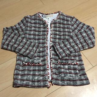 ザラキッズ(ZARA KIDS)のZARA kidsツイードジャケット タグ付 新品(ジャケット/上着)