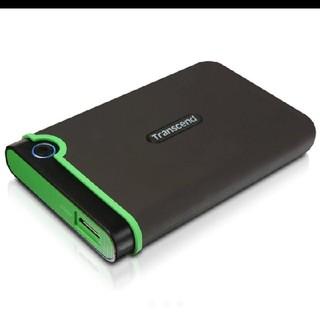 トランセンド(Transcend)の美品 外付けHDD 1TB ポータブルハードディスク M3シリーズ(PC周辺機器)